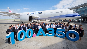 Setny airbus A350 trafił do China Airlines